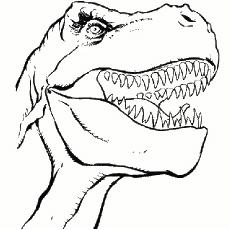 Gefährliche Dinosaurier Malvorlagen