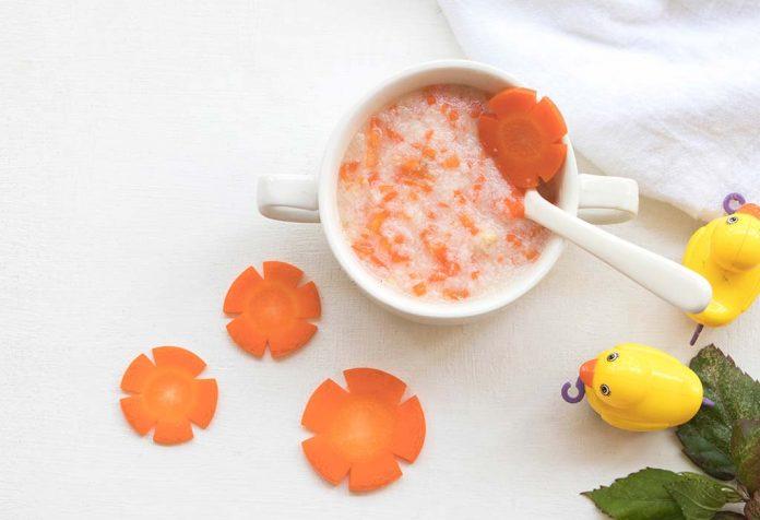 Rezept für Reis und Karottenbrei
