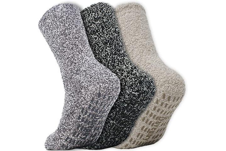 Daventry Ultra Thick Fluffy Grip Socken
