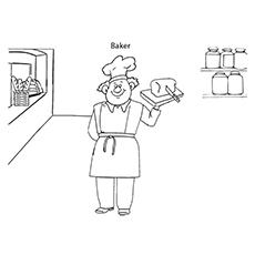 Bäcker und Brot Malvorlagen