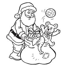 Weihnachtsmann in seinem Schlitten Malvorlagen zum Ausdrucken