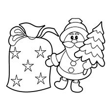 Mini Weihnachtsmann Färbung