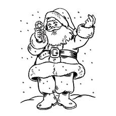 Bild des Heiligen Nikolaus Färbung für Kinder