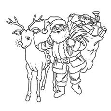 Weihnachtsmann Malvorlagen alle bereit, Geschenke zu liefern