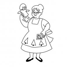 Mrs. Santa macht eine Puppe