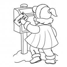 Schicken Sie den Brief an den Weihnachtsmann