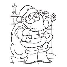 Weihnachtsmann Malvorlagen