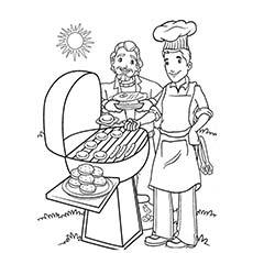 Barbecue Malvorlagen im Sommer