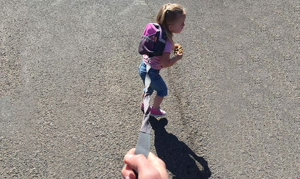 Dad Defends Putting 'Wild Child' Daughter On Leash