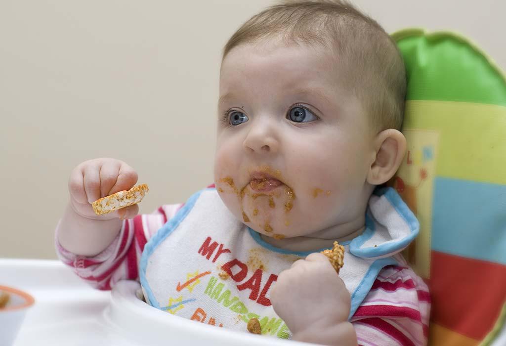 9 Monate 2 Wochen alte Babynahrungstabelle