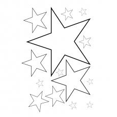 Zählen Sie, wie viele Sterne zum Färben vorhanden sind