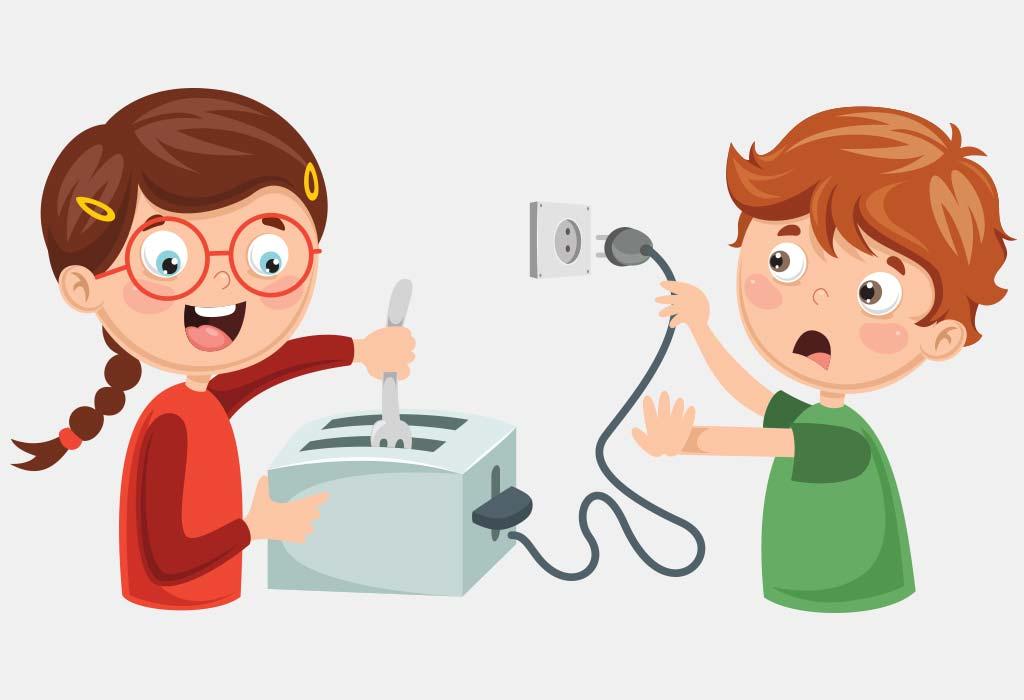 Elektrische Sicherheit für Kinder Halten Sie Ihr Kind von Stößen fern
