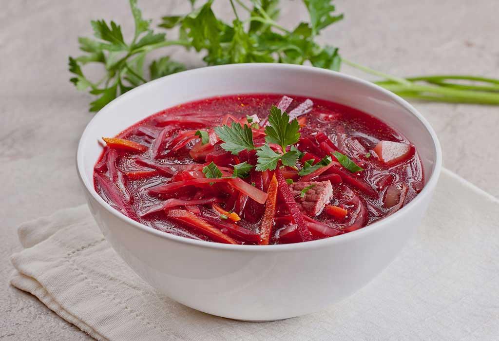 Karotten-Rote-Bete-Suppe Rezept