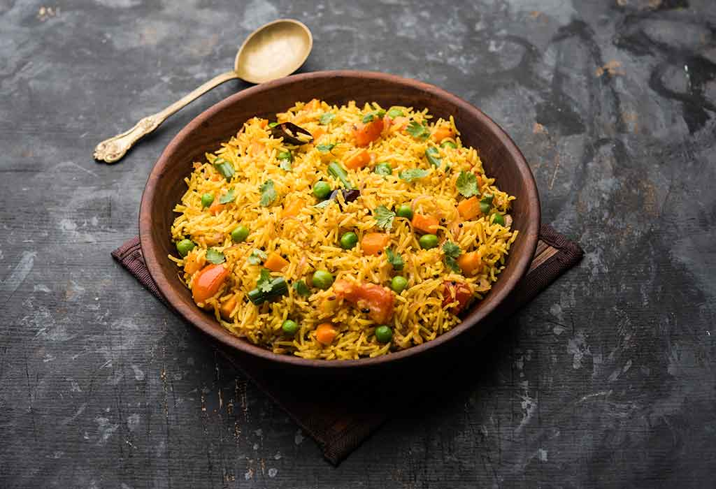 Gemüse Masoor Pulav Rezept