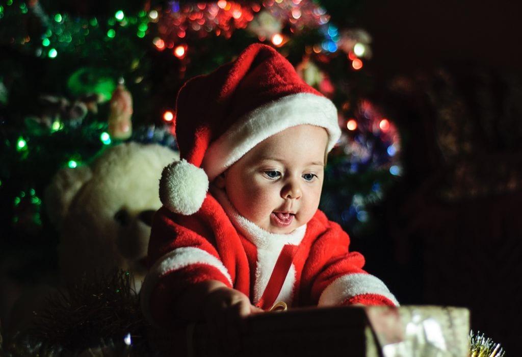 Tipps zum Klicken auf Weihnachtsporträts von Babys