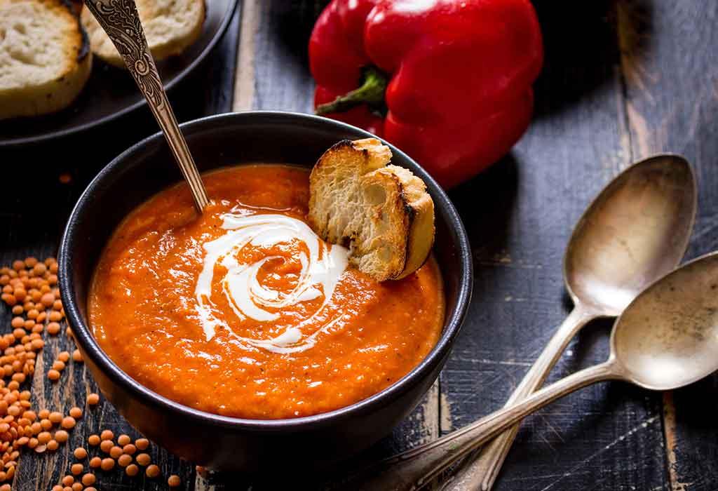 Tomaten Kürbis Reis Suppe Rezept
