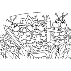 Ant Bug Malvorlagen