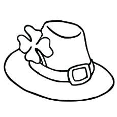 Der elegante vierblättrige Kleehuthut