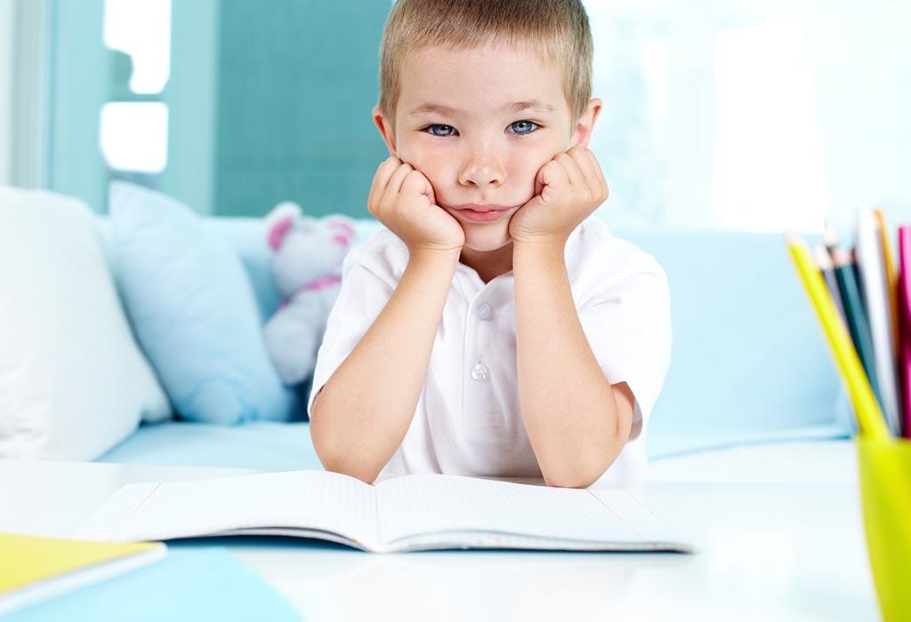 Kind Ist Langsam Und Unkonzentriert