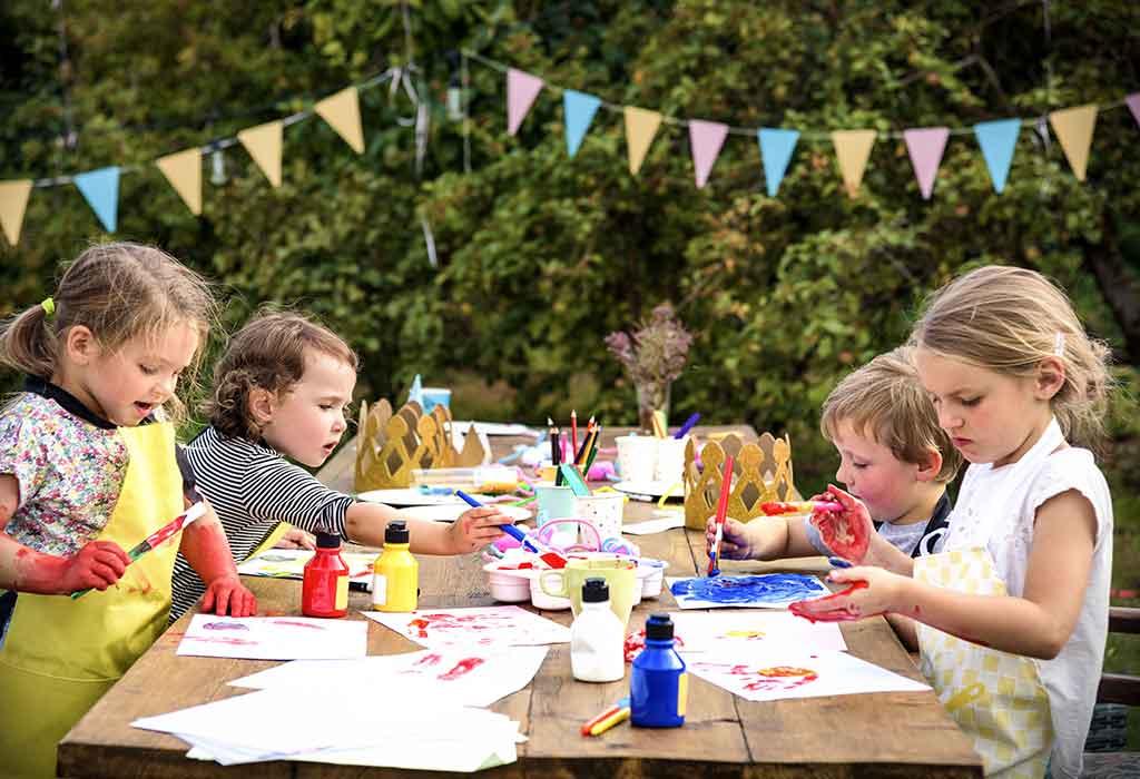 Wie man eine lustige Malparty für Kinder veranstaltet